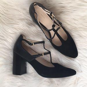 NEW COLE HAAN black Mary Jane t strap block heel 9